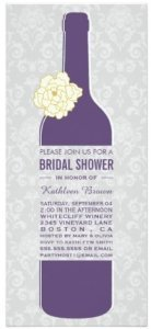 bridal shower bottle invitation