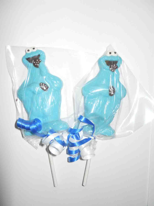 cookie monster lollipops
