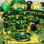 toddler birthday parties camo gear