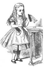 alice in wonderland party illustration