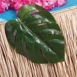 plastic tropical leaves