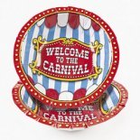 carnival party plates