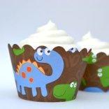 dinosaur cupcake wrappers