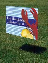 party decoration ideas yard sign
