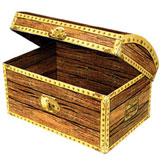 treasure chest centerpiece