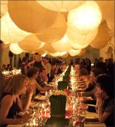 party decoration ideas hanging lanterns