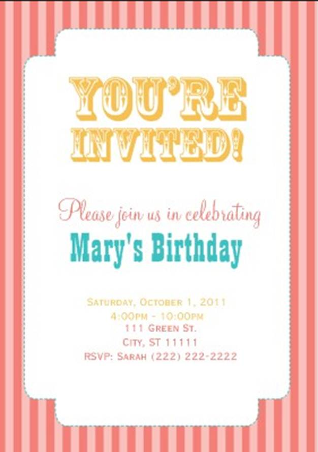 vintage carnival party invitations