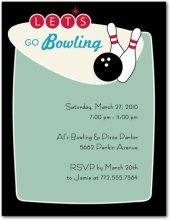retro bowling party invitations