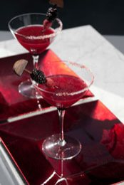 Party Ideas Berry Martini