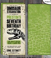 dinosaur invitations