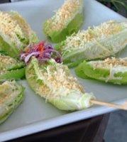 skewered ceasar salad