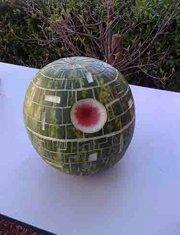 star wars birthday party watermelon death star