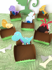 dinosaur treat holders