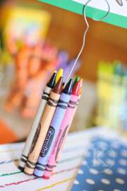 crayon place card holders