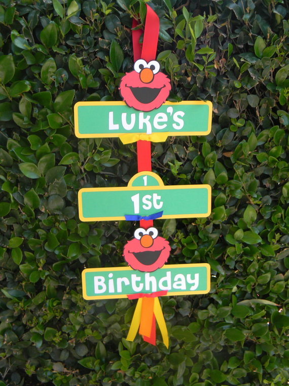 personalized elmo sign