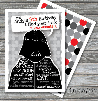 personalized star wars birthday invitations