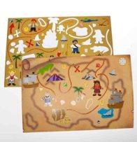 treasure map stickers