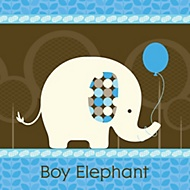 boy elephant party theme