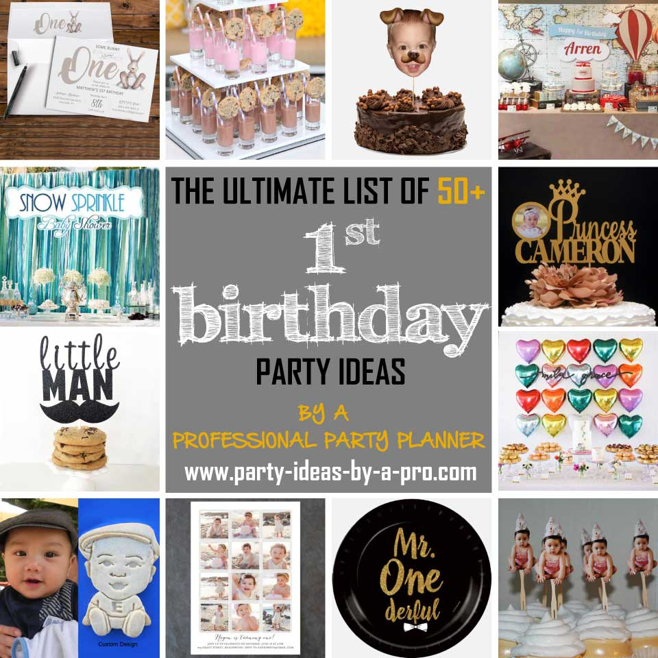 1st birthday party ideas collage
