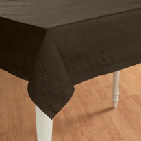 brown tablecover