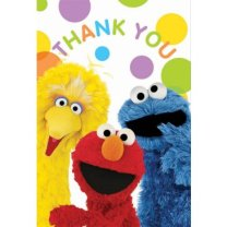 elmo thank you cards