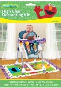 sesame street high chair decorating kit