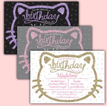 hello kitty custom invitations