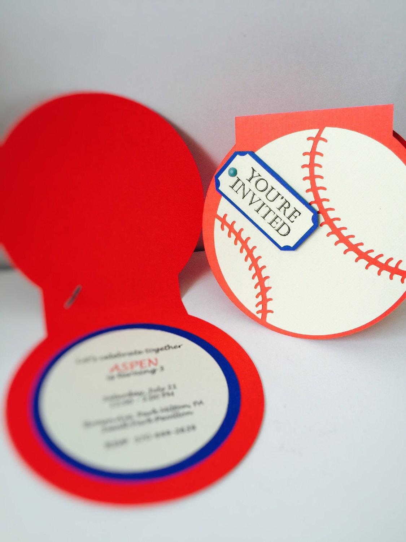 baseball invitations