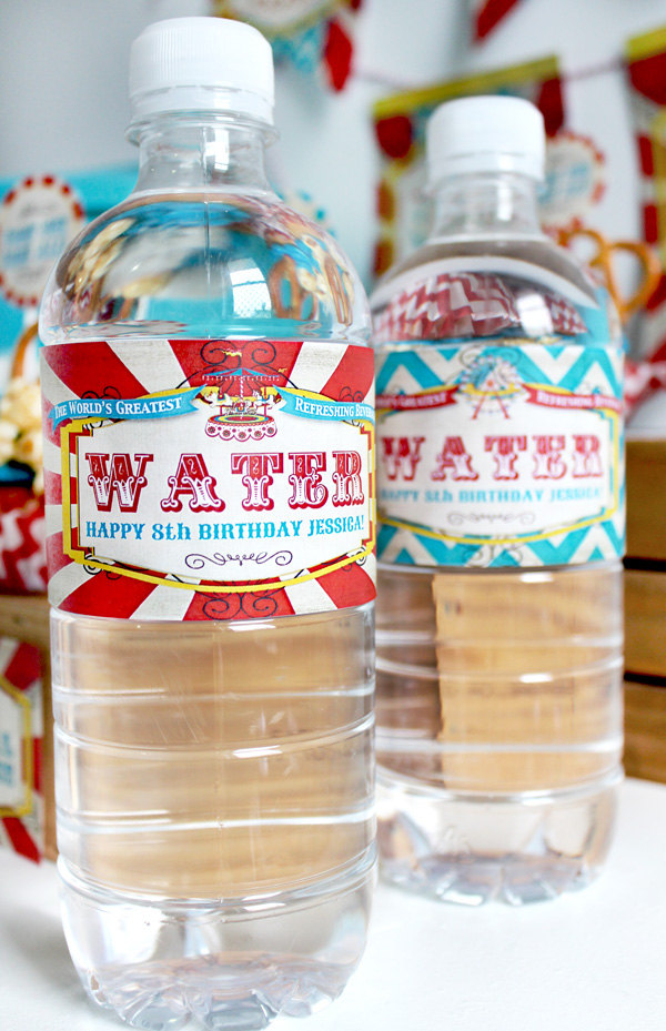 carnival water labels