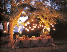 garden party decorations glass jar lanterns