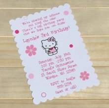 hello kitty personalized party invitations