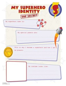 superhero party games superhero identity kit