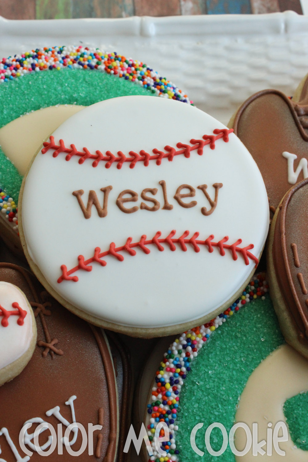 personalized baseball cookie