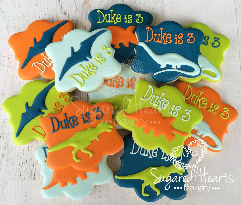 dinosuar cookies