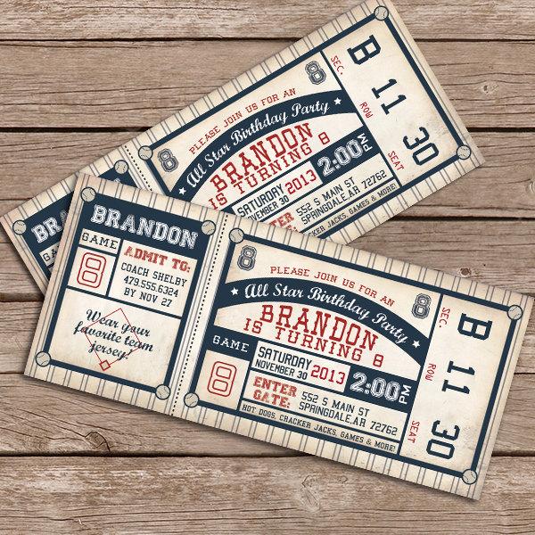 personalized baseball invitations