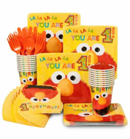elmo party tableware