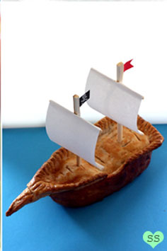 pirate ship dessert