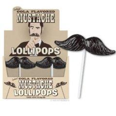 mustache lollipops