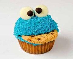 sesame street birthday party cookie monster cupcake