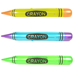 inflatable crayons