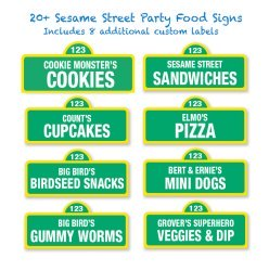 sesame street food labels