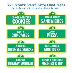 sesame street food labels