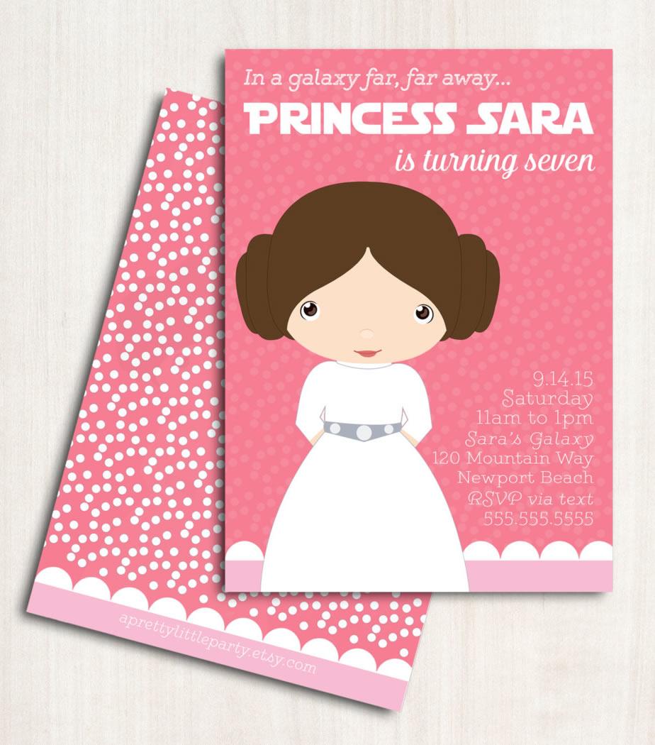 princess leia invitation