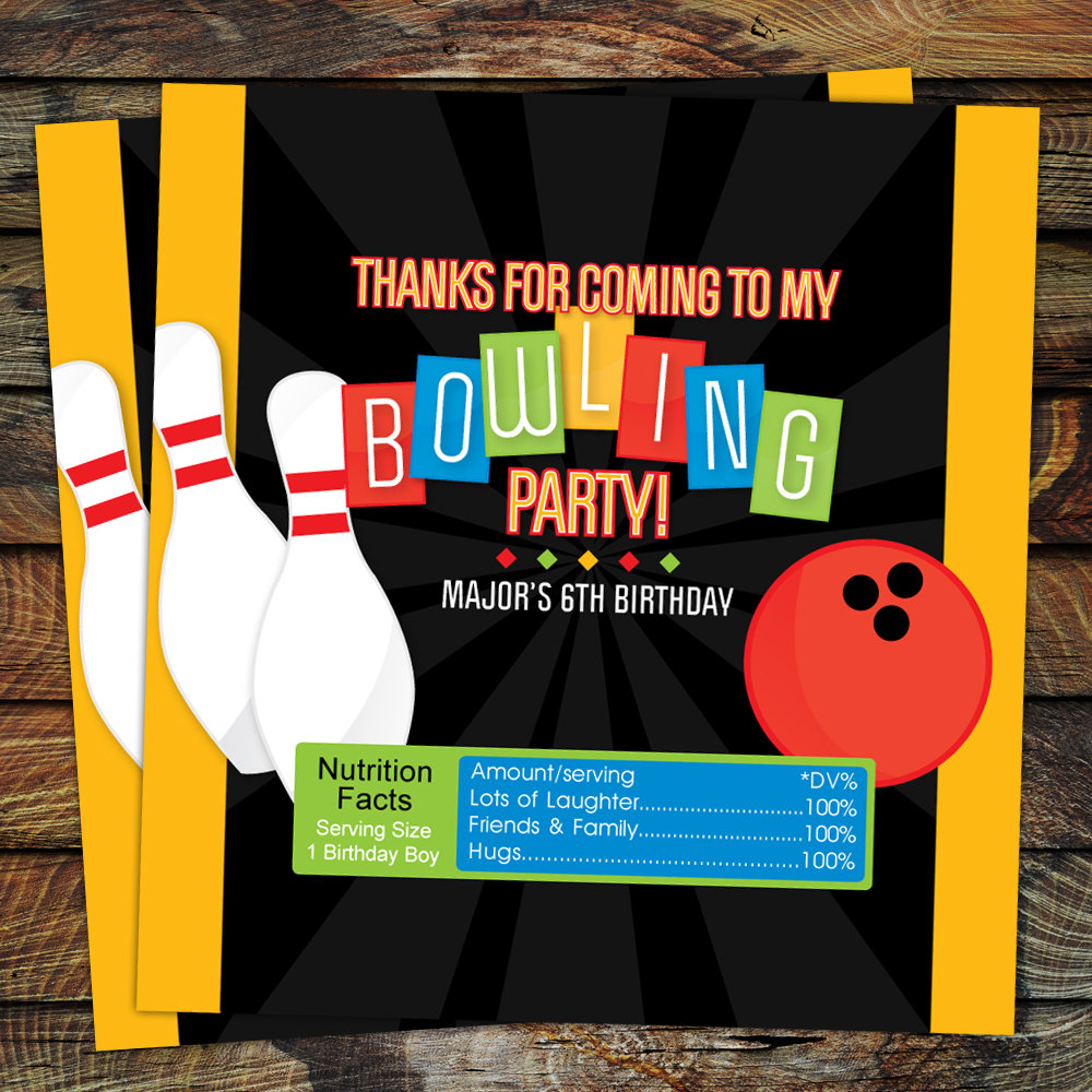 bowling candy wrappers