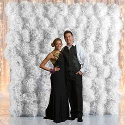 tissue pom pom backdrop
