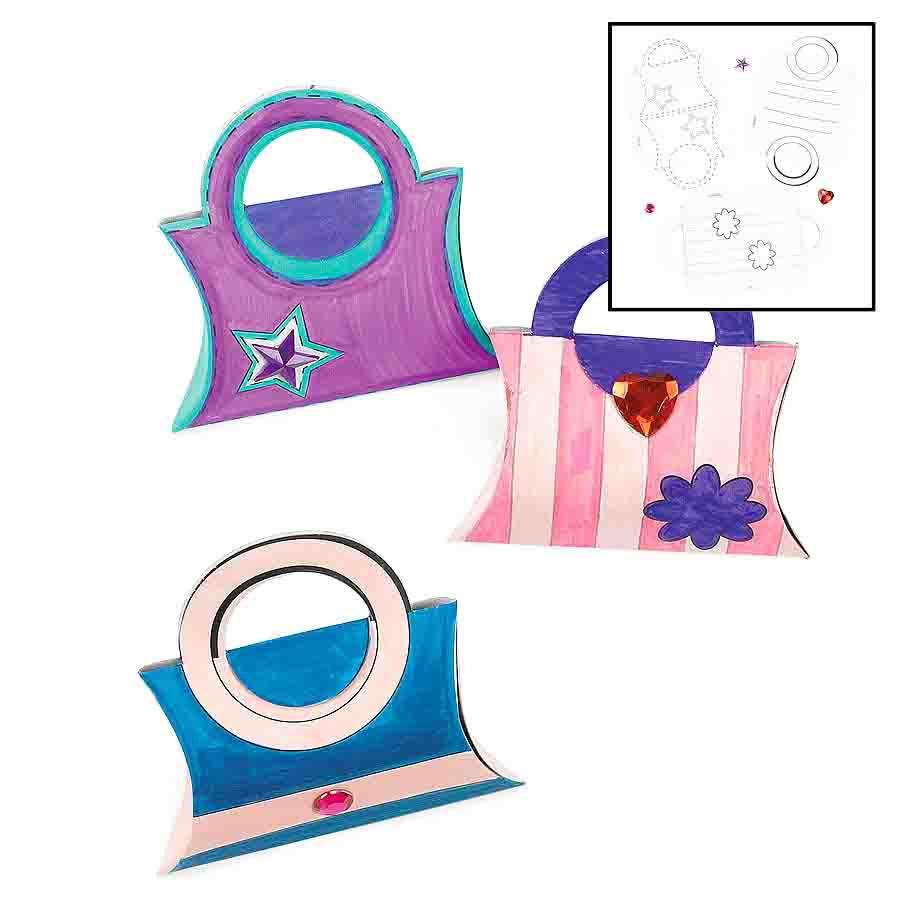 colour your own purse