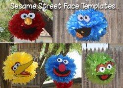sesame street tissue pom poms