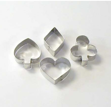 playing card suit cookie cutters