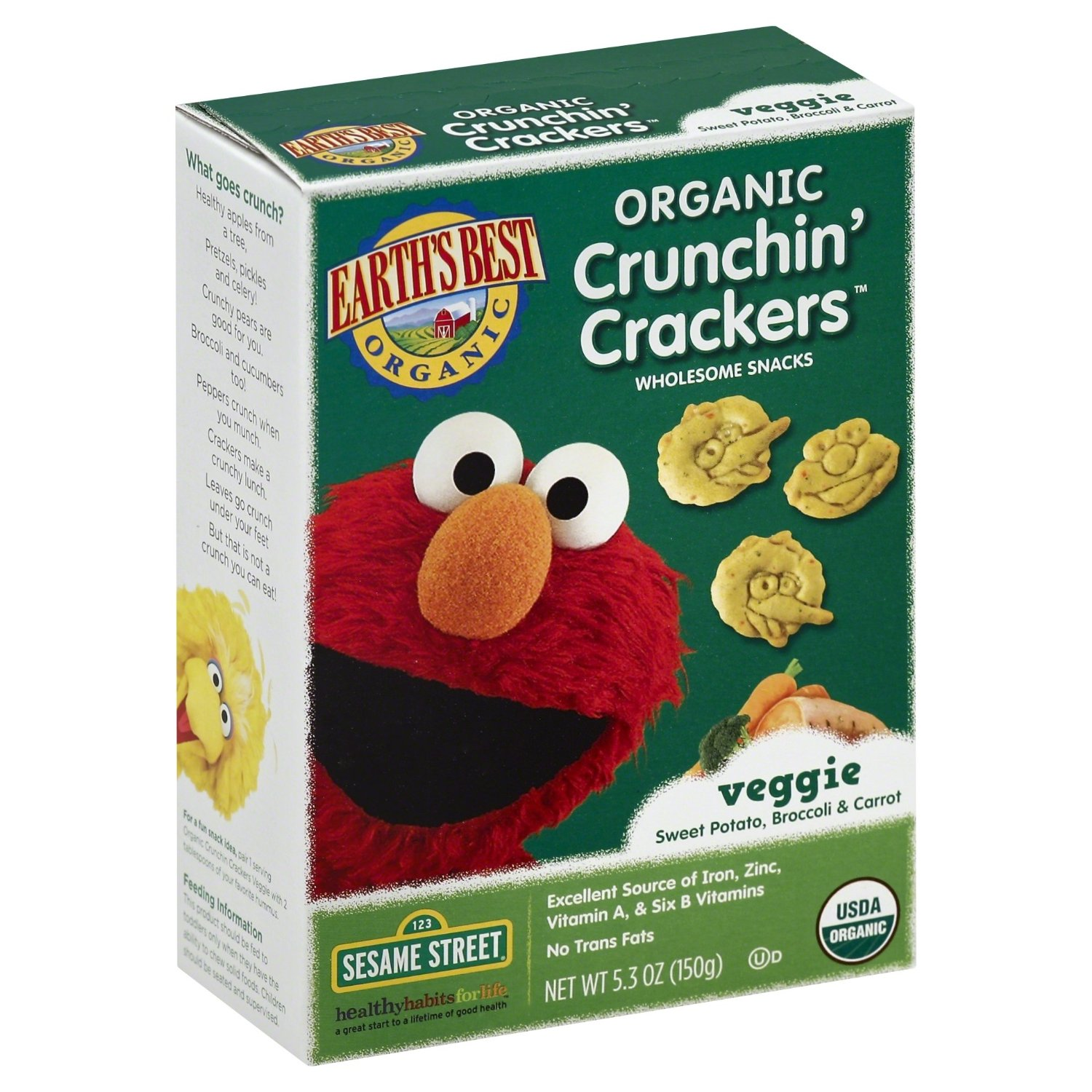 elmo sesame street crackers
