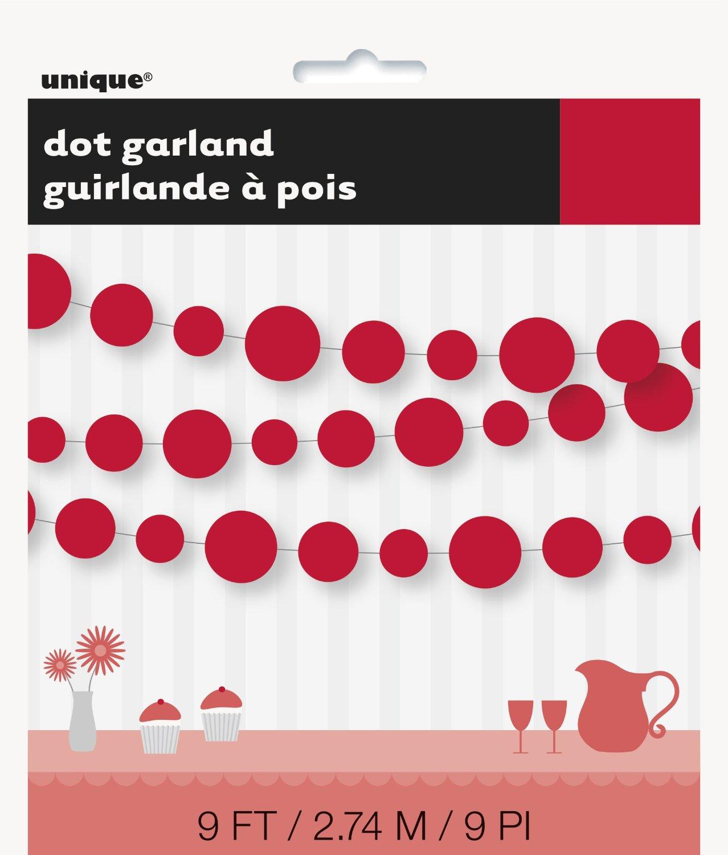 paper dot garlands
